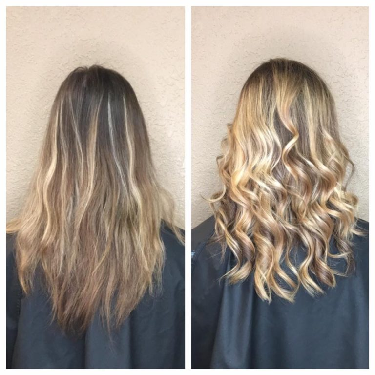 Cutting Edge Salon Foley MN before and after